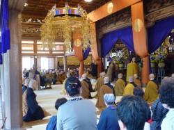 出班焼香 独住第22世・成田禅師さまの17回忌法要も営まれました。